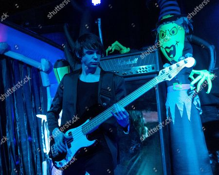 Los Angeles based bass player Ian Ross performs with John 5 and The Creatures at The Vault, in New Bedford, Mass