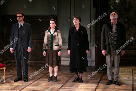 Martin Hutson (Assistant Curator), Ophelia Lovibond (Sophia Yepileva), Penelope Wilton (Valentina Nrovka) and David Rintoul (Peter Linitsky) during the curtain call