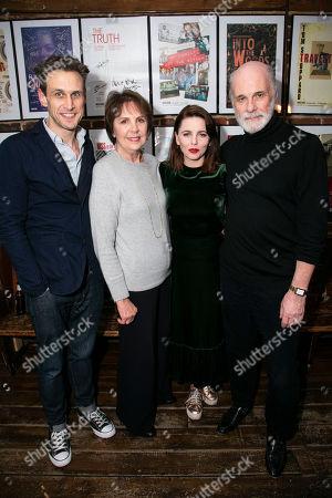Martin Hutson (Assistant Curator), Penelope Wilton (Valentina Nrovka), Ophelia Lovibond (Sophia Yepileva) and David Rintoul (Peter Linitsky)