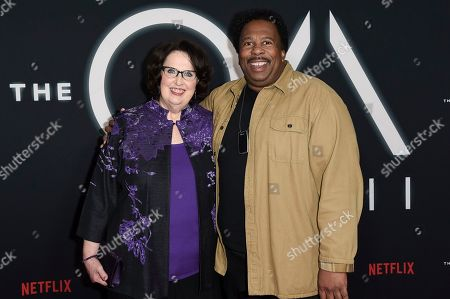 "Leslie David Baker, Phyllis Smith. Leslie David Baker, left, and Phyllis Smith attend the LA premiere of ""The OA"" Season 2 at the Los Angeles County Museum of Art, in Los Angeles"