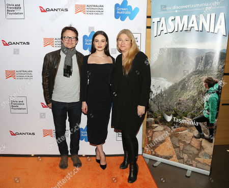 Damon Herriman, Aisling Franciosi and Bruna Papandrea (Producer)