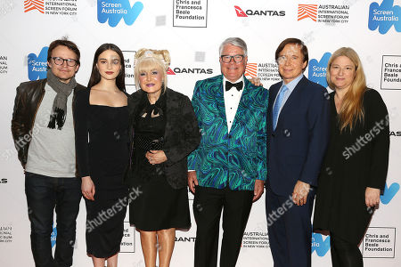 Damon Herriman, Aisling Franciosi, Francesca Beale, Alastair Walton (Cosul-General of Australia), Chris Beale and Bruna Papandrea (Producer)