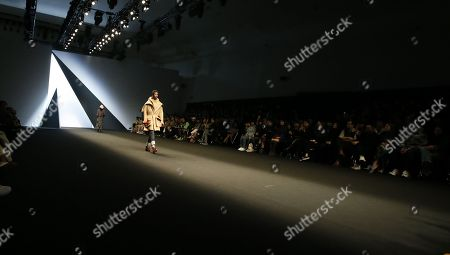 Stock Picture of A model exhibits a creation by South Korean designer Park Youn-Soo of BIG PARK during the Fall/Winter 2019 Seoul Fashion Week at the Dongdaemun design Plaza in Seoul, South Korea, 20 March 2019. The fashion week runs from 19 to 24 March.
