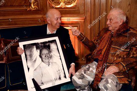Benedikt Taschen and David Bailey.