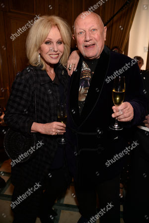 Stock Photo of Joanna Lumley and Steven Berkoff