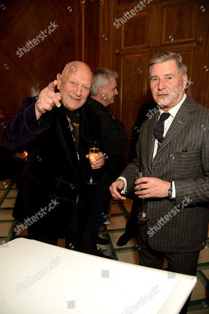 Stock Picture of Steven Berkoff and Jeremy Hackett