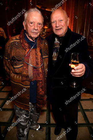 Stock Image of David Bailey and Steven Berkoff