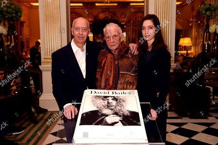 Benedikt Taschen, David Bailey and Marlene Taschen