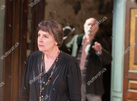 Editorial photo of 'The Bay at Nice' Play by David Hare performed at the Menier Chocolate Factory, London, UK, 19 Mar 2019