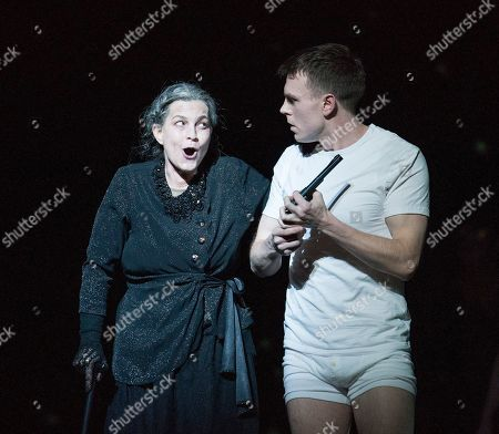 Stock Photo of Julia Bauer as Queen of the Night, Rupert Charlesworth as Tamino,