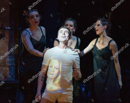 Stock Picture of Rupert Charlesworth as Tamino, Susanna Hurrell, Samantha Price, Katie Stevenson