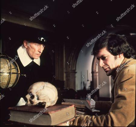 Peter Cushing as Gustav Weil and David Warbeck as Anton Hoffer