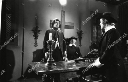 David Warbeck as Anton Hoffer, Peter Cushing as Gustav Weil and Harvey Hall as Franz