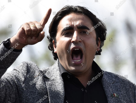 Bilawal Bhutto Zardari, chairman of opposition party Pakistan People Party leaves after he appeared before the National Accountability Bureau (NAB) in Islamabad, Pakistan, 20 March 2019. Bilawal Bhutto Zardari and his father former President Asif Zardari appeared before NAB on 20 March to record their statements in the Park Lane Estate corruption case.