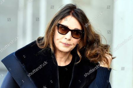 German actress Iris Berben attends the funeral service for Swiss actor Bruno Ganz in the Fraumuenster Church in Zurich, Switzerland, 20 March 2019. Ganz died on 16 February at the age of 77.
