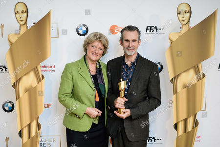 German State Culture Minister Monika Gruetters (L) and the president of the German Film Academy, German actor Ulrich Matthes pose during a photocall on occasion of the nominating press conference for the 69th German Film Awards 'LOLA' in Berlin, Germany, 20 March 2019. The most highly endowed cultural award in Germany is presented on 03 May 2019.