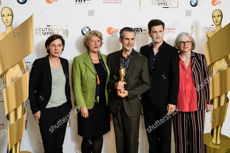 The managing director of the German Film Academy Anne Leppin, German State Culture Minister Monika Gruetters, the president of the German Film Academy, German actor Ulrich Matthes, the chairman of the German Film Academy Benjamin Herrmann and Claudia Loewe of the German Film Academy pose during a photocall on occasion of the nominating press conference for the 69th German Film Awards 'LOLA' in Berlin, Germany, 20 March 2019. The most highly endowed cultural award in Germany is presented on 03 May 2019.