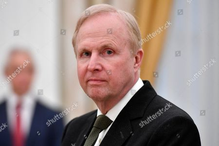 British Petroleum (BP) Group Chief Executive Bob Dudley waits for the beginning of a meeting of Russian President with British businessmen at the Kremlin in Moscow, Russia, 20 March 2019.