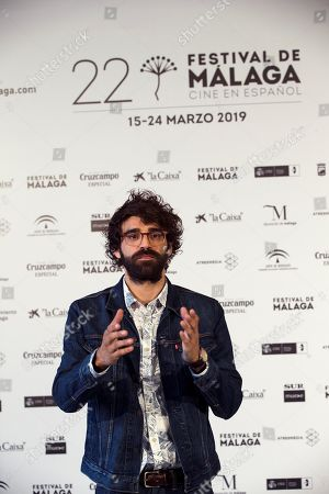 David Verdaguer poses after the screening of the film '7 Reasons to Run Away' at the Cervantes Theatre as part of the Malaga Film Festival, in Malaga, Spain, 20 March 2019. The movie runs in the official section of the festival running from 15 March to 24 March.