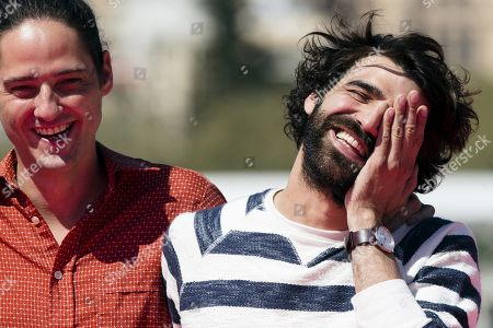 Stock Image of Carlos Marques-Marcet and actor David Verdaguer pose during the photocall of the movie 'The days to come', as part of the 22nd Malaga Film Festival, in Malaga, southern Spain, 20 March 2019. The film competes in the official section of the festival, which runs from 15 March to 24 March.