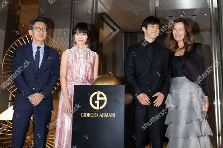 Editorial photo of Armani Ginza Tower Lighting ceremony, Tokyo, Japan - 20 Mar 2019