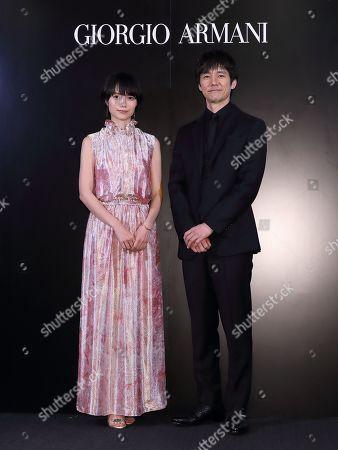 Stock Image of Aoi Miyazaki, Hidetoshi Nishijima