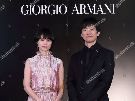 Editorial image of Armani Ginza Tower Lighting ceremony, Tokyo, Japan - 20 Mar 2019