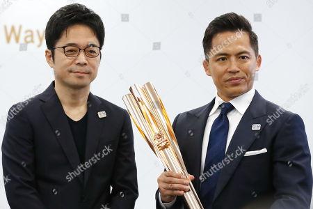 (L-R) Tokujin Yoshioka, Tadahiro Nomura
