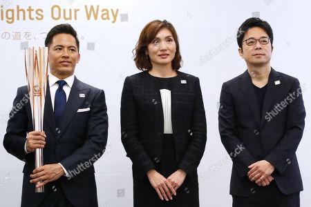 (L-R) Tokujin Yoshioka, Miho Takeda, Tadahiro Nomura