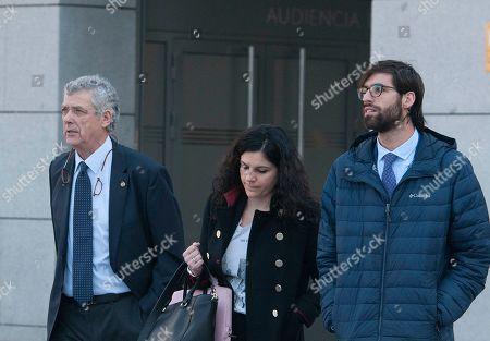 Former Spanish Football Federation president Angel Maria Villar, left.