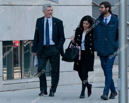 Stock Photo of Former Spanish Football Federation president Angel Maria Villar, left.