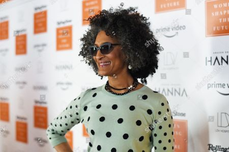 Carla Hall attends Rolling Stone's 'Women Shaping The Future' brunch hosted by Amazon Prime Original HANNA held at The Altman Building in New York, NY