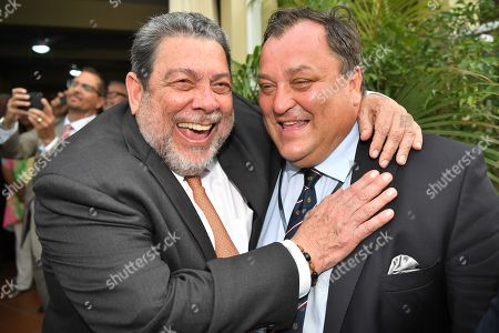 Prime Minister Ralph Gonsalves at the Governor-General's reception at the official residence of the Prime Minister, Kingstown