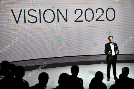 Volvo Cars CEO Hakan Samuelsson presents news about the company's security work during a press conference in Gothenburg, Sweden, 20 March 2019.