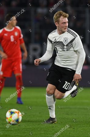 Germany's Julian Brandt during the international friendly soccer match between Germany and Serbia in Wolfsburg, Germany, 20 March 2019.