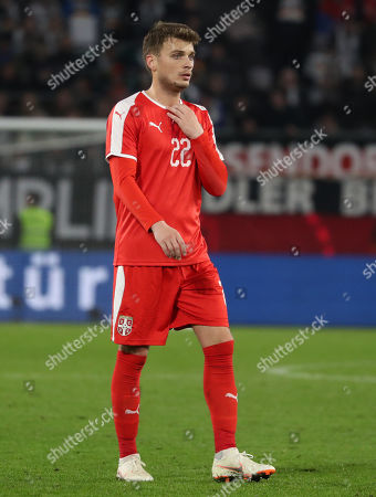 Serbia's Adem Ljajic during the international friendly soccer match between Germany and Serbia in Wolfsburg, Germany, 20 March 2019.