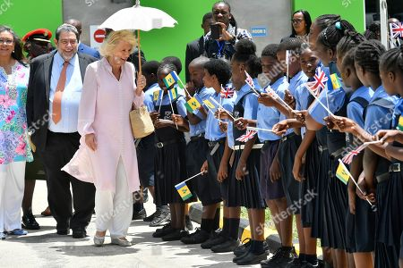 Prime Minister Ralph Gonsalves and Camilla Duchess of Cornwall at Argyle International Airport