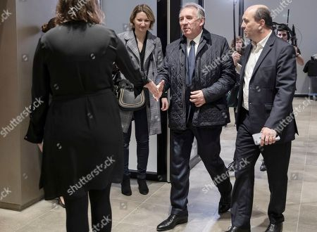 MoDem's president Francois Bayrou arrives for a debate with five others French political party chiefs at French BFM TV private news channel in Paris, France, 20 March 2019.