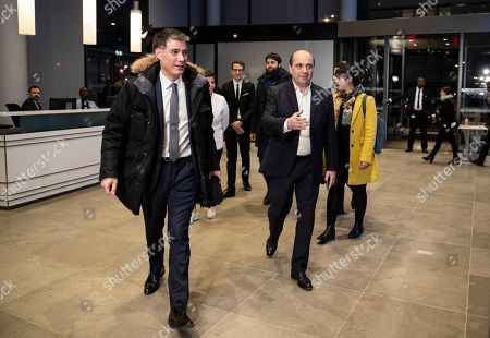 Parti Socialist's (PS) general secretary Olivier Faure arrives for a debate with five others French political party chiefs at French BFM TV private news channel in Paris, France, 20 March 2019.