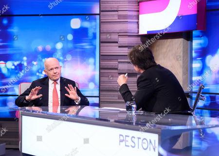William Hague and Robert Peston