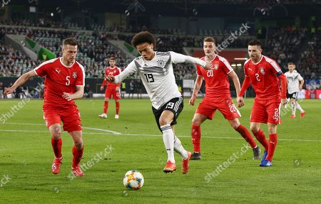 Uros Spajic, Leroy Sane, Sergej Milinkovic Savic, Antonio Rukavina /   / general viel, Spielszene  /      