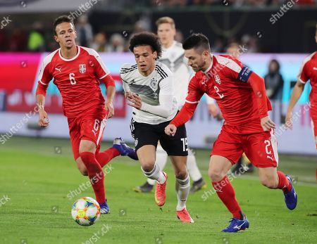 Nemanja Maksimovic, Leroy Sane, Antonio Rukavina /   / general viel, Spielszene  /      