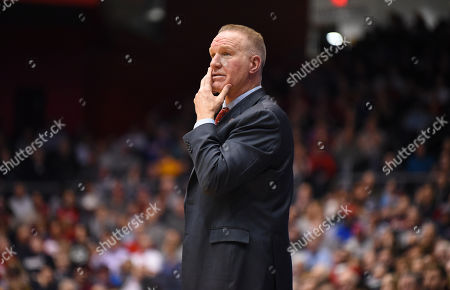 St. John's Red Storm head coach Chris Mullin looks down court during the NCAA First Four game between the St. John's Red Storm and the Arizona State Sun Devils at the University of Dayton Arena in Dayton, Ohio