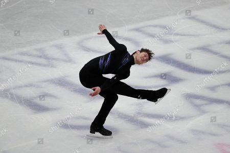 Jason Brown from the U.S. performs his men's short program routine during the ISU World Figure Skating Championships at Saitama Super Arena in Saitama, north of Tokyo