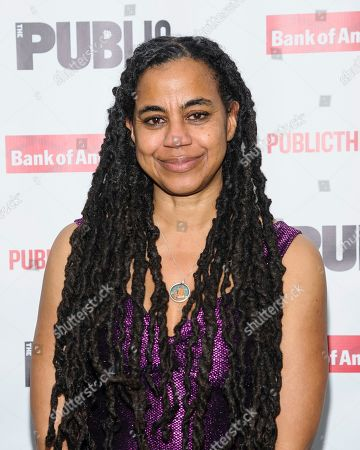 "Stock Picture of Suzan-Lori Parks attends the opening night celebration for ""White Noise"" at The Public Theater, in New York"