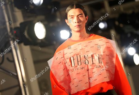 A model exhibits a creation by South Korean designer Lee Moo-yeol and Kim Min-hee of YOUSER during the Fall/Winter 2019 Seoul Fashion Week at the Dongdaemun design Plaza in Seoul, South Korea, 21 March 2019. The fashion week runs from 19 to 24 March.