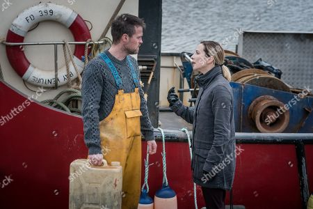 Stock Image of Jonas Armstrong as Sean and Morven Christie as Lisa Armstrong