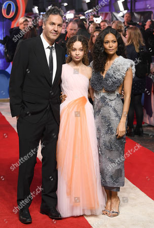 Stock Picture of Ol Parker, Nico Parker and Thandie Newton