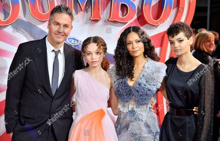 Stock Picture of Ol Parker, Nico Parker, Thandie Newton and Ripley Parker
