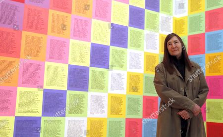US Neo-conceptual artist Jenny Holzer poses during the opening of her exhibition at Guggenheim Museum in Bilbao, Spain, 21 March 2019. The exhibition Jenny Holzer: Thing Indescribable will be open to public from 22 March to 09 September 2019.